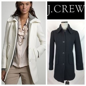 J Crew Black Stadium-Cloth Friday Coat